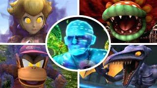 Super Smash Bros Brawl - All Bosses + Cutscenes (No Damage)
