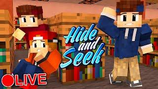 VERSTECKT IN DER SCHULE! | Minecraft Hide and Seek (LIVE)
