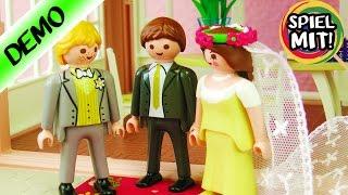Playmobil HOCHZEITS PAVILLON Set deutsch mit BRAUTPAAR + Blumen Deko   4297