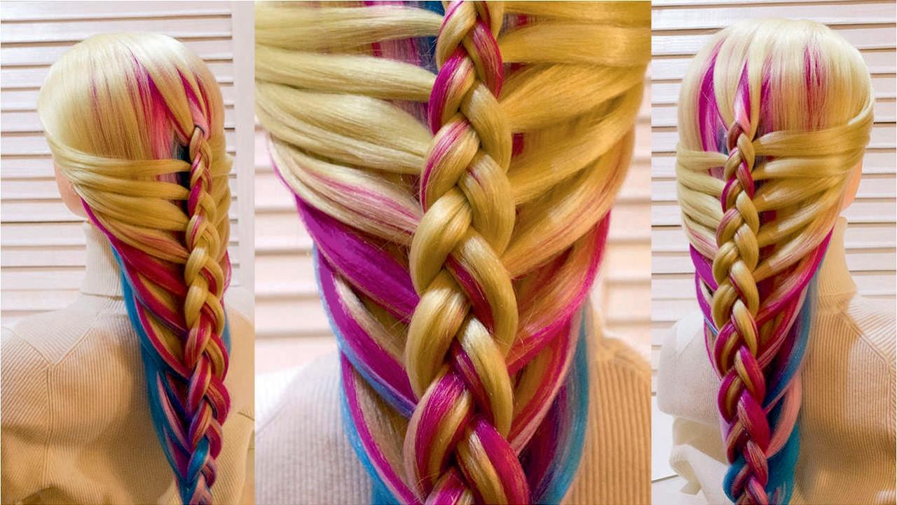 прически с плетением на каждый