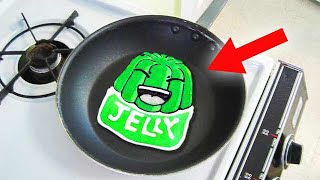 HOW TO MAKE AMAZING JELLY PANCAKE ART!