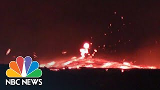 Fiery Torrent Of Fast-Moving Lava Flows From Hawaii