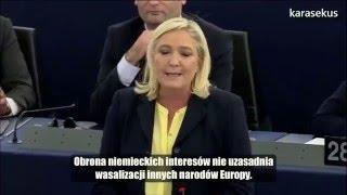 Marine Le Pen: Ja pani nie uznaję, pani Merkel