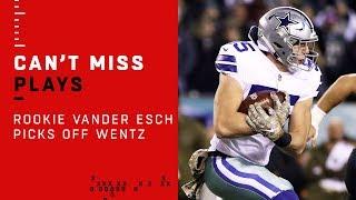 Rookie LB Leighton Vander Esch Picks Off Carson Wentz!