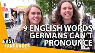 9 English words Germans can