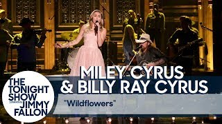 "Miley Cyrus and Billy Ray Cyrus Pay Tribute to Tom Petty with ""Wildflowers"" Cover"