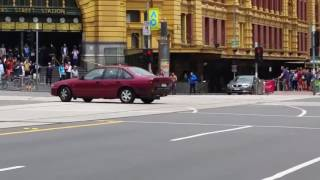 Disturbing footage Melbourne CBD Car Plunges Into Packed Street
