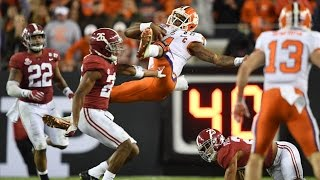 Deshaun Watson DESTROYED by Alabama Defender, Responds w/ National Championship Winning Touchdown