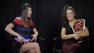 WWE RAW Women's Champ Bayley raps with Jackie Redmond
