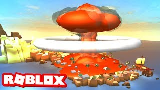 NUKING THE ISLAND IN ROBLOX BEACH SIMULATOR