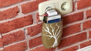 Aus Shampooflasche wird mit nur 2 Schnitten eine Handyhalterung!