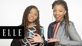 Chloe x Halle Play a Game of Who Knows Who Best?! | ELLE