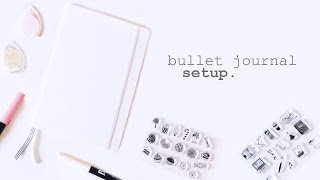 Bullet Journal Setup 2017