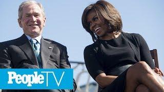 Michelle Obama And George W. Bush