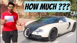 HOW EXPENSIVE IS IT TO OWN A BUGATTI ???