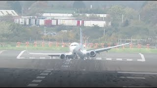 Scary! Planes struggle to land at Birmingham Airport during Storm Brian