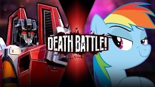 Starscream VS Rainbow Dash   DEATH BATTLE!   ScrewAttack!