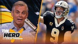 Colin reacts to Brees & Roethlisberger injuries, what they mean for the rest of the NFL | THE HERD