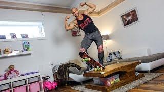 Skateboard Stunt Zu Hause!