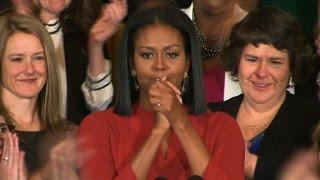 Michelle Obama delivers emotional final speech