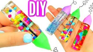 DIY LIQUID PENS! Orbeez, Lava, & Glitter Liquid Pens!