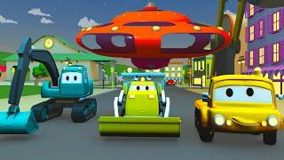 Die UFO Pendelfahrt - Der Bau Trupp in Autopolis 🚧  Cartoons für Kinder