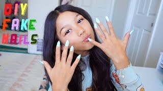 Easiest DIY Fake Nails At Home | Txunamy