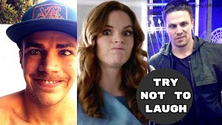 The Flash Cast Play Funny Games (Part-2) | Unseen Funny Moments - 2018