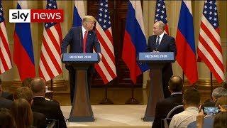 Donald Trump and Vladimir Putin hold press conference