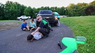 SLIME PRANK ON COP GONE WRONG!