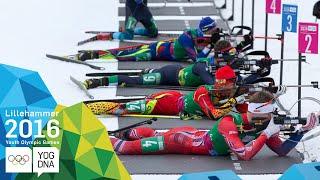 Biathlon Single Mixed Relay - Meng & Zhu (CHN) win gold   Lillehammer 2016 Youth Olympic Games