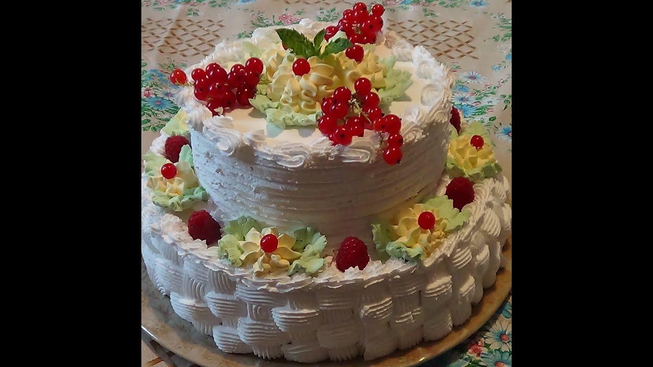 Трехэтажный торт своими руками на день рождения 32