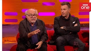 Danny DeVito was attacked by a monkey: The Graham Norton Show 2016   Extra - BBC One