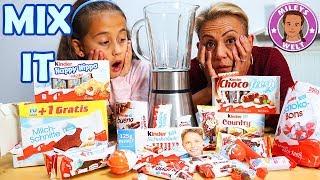 MIX IT BABY !!! Wir mischen alle KinderSchokolade Produkte zusammen | Mileys Welt