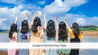 Instant herbal hair dye | White hair to Black Hair | Home made Hair colour | stop hair loss