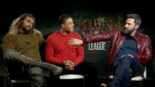 """Does Ben Affleck like the term """"Batfleck""""? Jason Momoa & Ray Fisher JUSTICE LEAGUE Interview"""