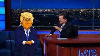 Cartoon Donald Trump Tells Stephen Who Started It
