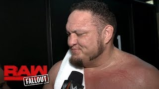 Samoa Joe claims his recent undefeated streak will continue: Raw Fallout, May 29, 2017