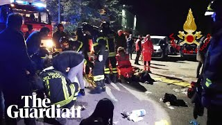 Six dead and scores injured in Italian nightclub stampede
