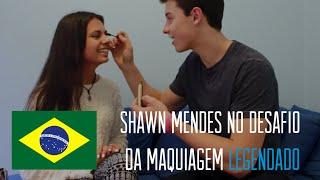 Shawn Mendes realiza o desafio da maquiagem (LEGENDADO PT/BR)