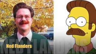Simpsons are Real !! 10 Characters in Real Life ..