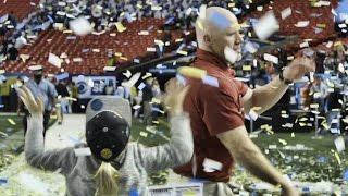 Watch Scott Cochran celebrate with his kids in a blizzard of confetti