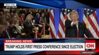 PEOTUS Trump Slams CNN as Fake News During Presser