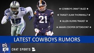 Cowboys Rumors On Drafting Juan Thornhill, Allen Hurns Trade & Amari Cooper Contract Extension?