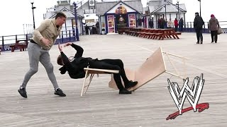 WWE MOVES IN PUBLIC | Tables Edition 😂
