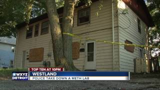 Police bust meth lab on street where families live
