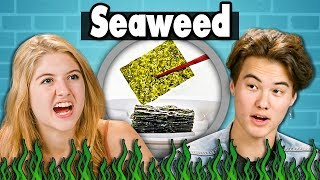 TEENS EAT SEAWEED   Teens Vs. Food