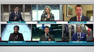Tim and Sid: Six reporters give report at same time ahead of busy night in NHL