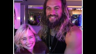 Emilia Clarke Reunites With Jason Momoa, Confirms He