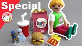 Playmobil deutsch - Pimp my PLAYMOBIL - McDonalds Happy Meal -  DIY für Kinder -  Family Stories